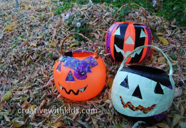 Duck Tape DIY Treat Buckets