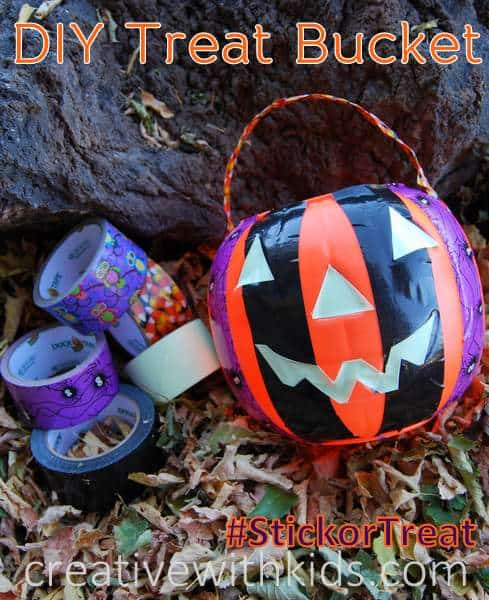 Duck tape Trick or Treat Basket