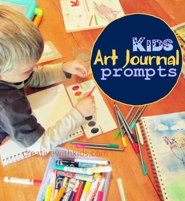 Kid Art Journal Prompts