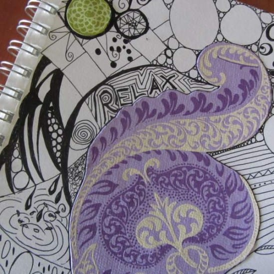 Relax - fill your cup journal prompts for moms