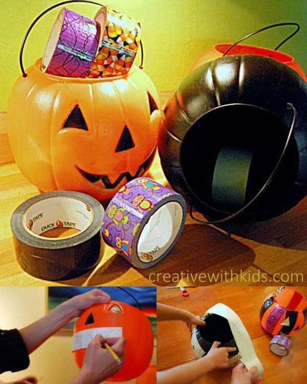 DIY Duck Tape Trick or Treat Bucket