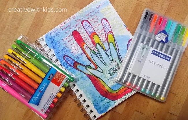 GROW {fill your cup} Journal Prompts +Kids Art Journal
