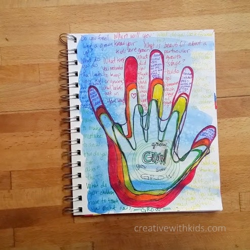 Grow - Art Journal with Kid Prompt