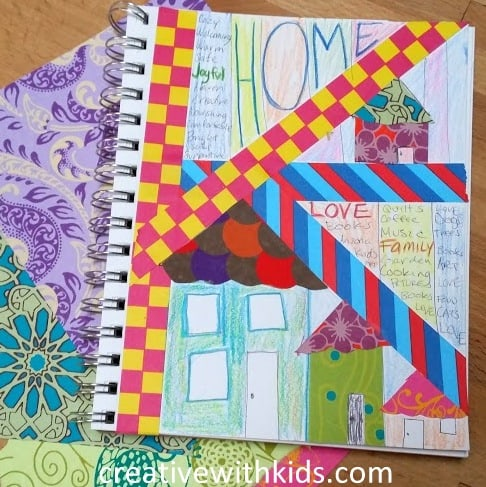Fill Your Cup Home Kids Art Journal Prompts