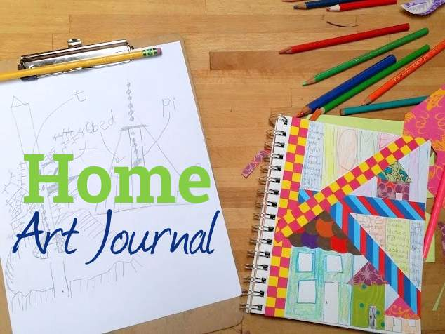 fill your cup} Home + Kids Art Journal Prompts