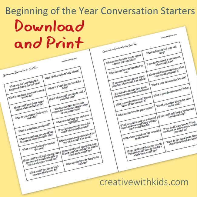 Download and print conversation starters