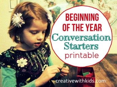Kid Conversation Starters for the Beginning of the Year – Printable!