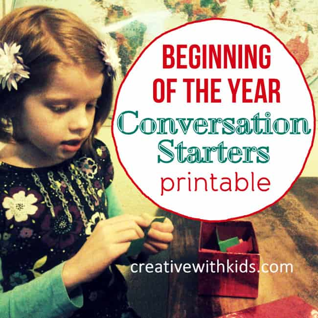 Conversation Starters for January and February - Printable