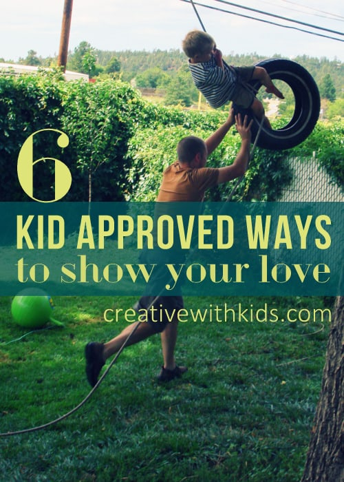 Showing love the way that your kids will recognize it best