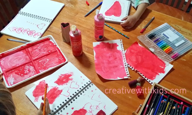 kids art journal day - love