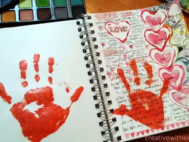 love journal page - fill your cup