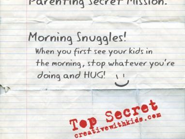 Morning Snuggles - Parenting Secret Mission