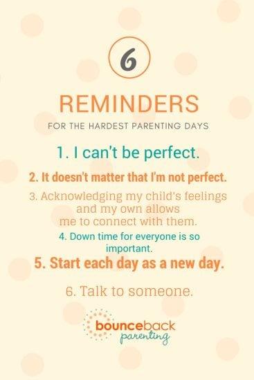 Parenting Reminder for hard days