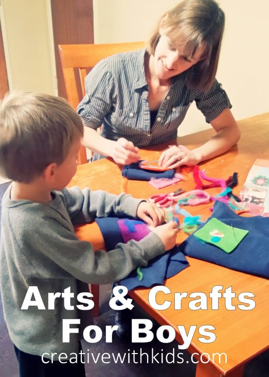 Choosing arts and crafts for boys how a crafty mama for Boys arts and crafts