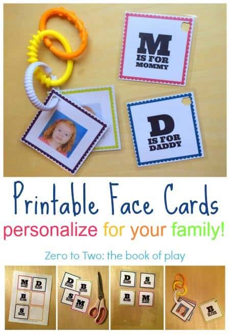 printable cards to link to stroller - things to do wtih babies and toddlers ebook