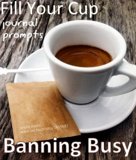 Journal prompts for Banning Busy in Your Life
