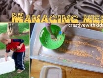 tips on managing messy sensory play