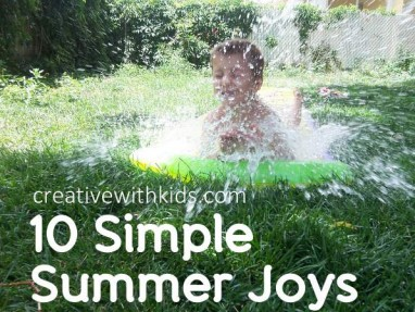 simple summer joys