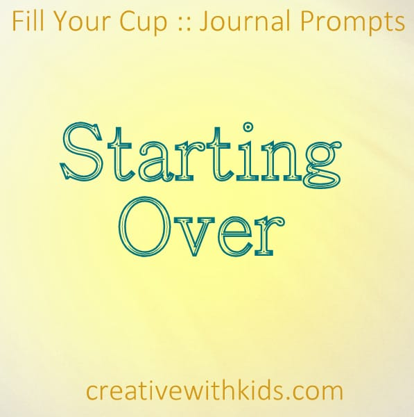 journal prompts for starting over