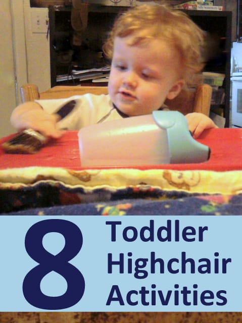 Simple seated toddler play