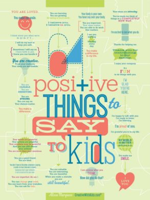 64 Positive Things to Say to Kids - Print