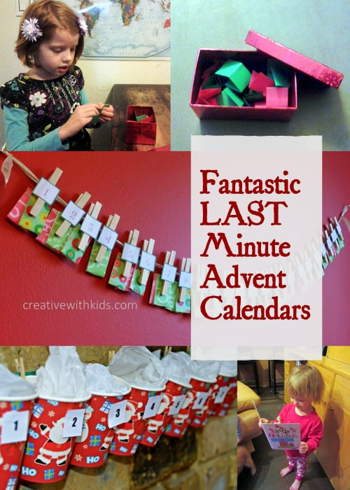 Advent Calendars you can start any day before Christmas