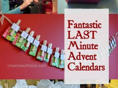 5 Last Minute Advent Calendars – Super Simple