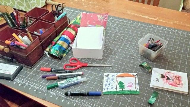 Christmas Card making station