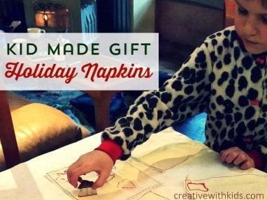 Kid Made Christmas Napkins