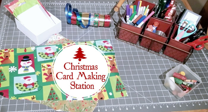 Christmas card making station for Craft supplies for card making