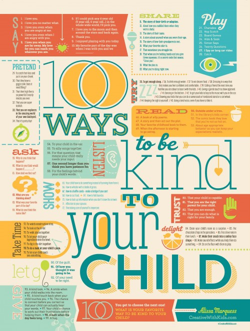 Print: 100 Ways to Be Kind to Your Child - Bounceback Parenting
