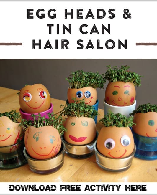 Garden Classroom Free Egg Head Activity from Book