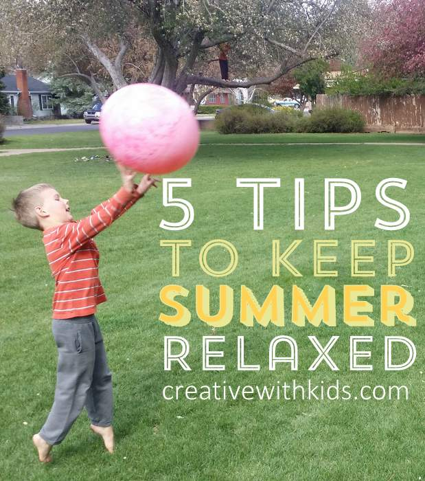 5 Tips for keeping summer relaxed
