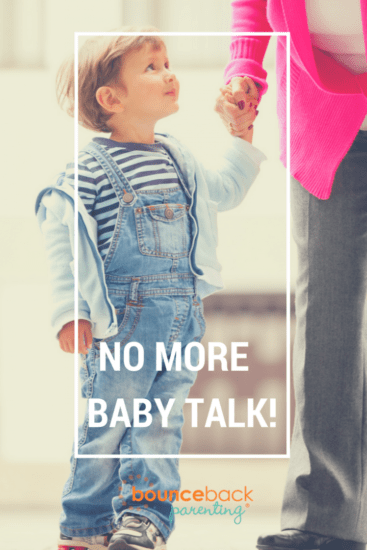 Getting kids to use a big kid voice - how to handle baby talk in older child