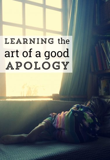 learning how to apologize to my kids