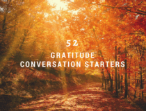 Gratitude journal prompts and conversation starters