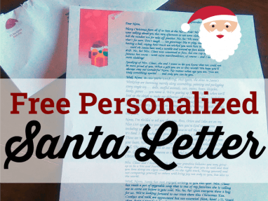 Get a Free Personalized Santa Letter for Your Child