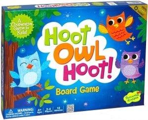 preschool boardgames - hoot owl hoot