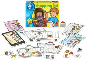 board games for preschoolers - shopping list