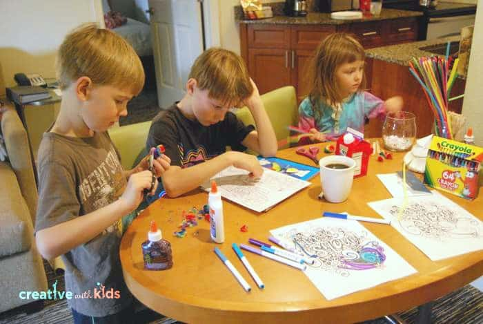 Coloring pages and mazes in our winter printable pack at Hyatt House