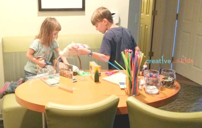 Exploring our crafts basket at Hyatt House