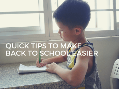 5 End of Summer Tips for an Easier Back to School Transition
