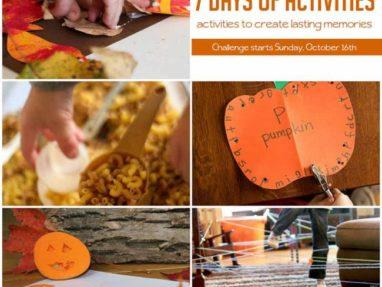 7 Day Kid Activity Challenge – super fun way to make memories