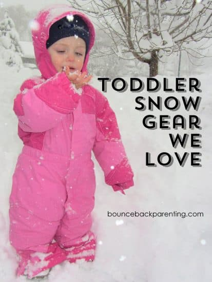 Snowsuits and snow gear for toddlers so you can get out side to play this winter