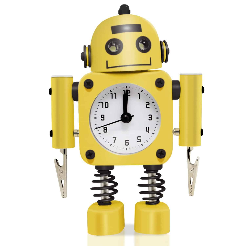 betus non ticking robot alarm clock