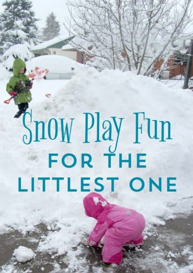 snow play activities for toddlers and preschoolers