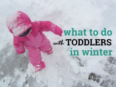 What to do with toddlers in winter