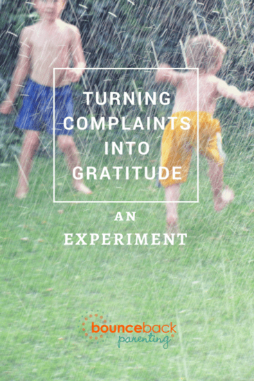 Turning complaints into gratitude - an experiment