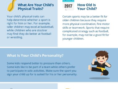What sport should my child play? Choosing The Right Sport For Your Child – Infographic